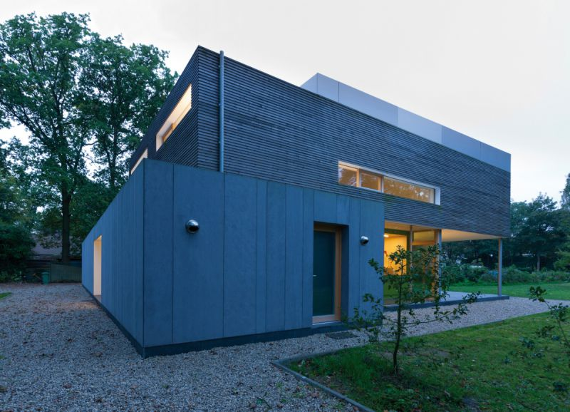 Private house - passive house system, Eter-Color E20 en Paintboard